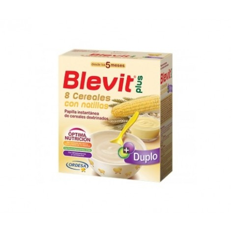 Blevit Plus Duplo 8 cereales con natillas