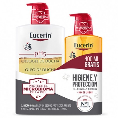Eucerin pH5 Oleogel de ducha 1 l + 400 ml