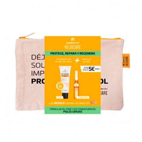 Heliocare Pack 360º Gel oil free 50 ml + Endocare radiance oil free 10 ampollas