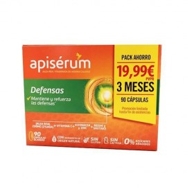 Apisérum Defensas pack 90 cápsulas blandas