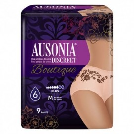 Ausonia discreet boutique plus talla mediana 9 uds