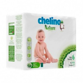 Chelino Nature pañales talla 6 17-28kg 27uds