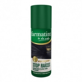 Farmatint Spray retocador stop raíces negro 75ml