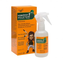 Neositrín 100% Spray Antipiojos gel líquido 100 ml