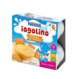 Nestlé Iogolino natillas de galleta 100 gr 4 tarrinas