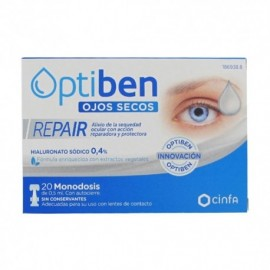 Optiben ojos secos repair 20 monodosis