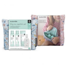 Suavinex neceser de tela Baby Care Essentials Set rosa 1 ud