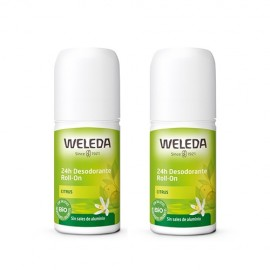Weleda Duplo Desodorante roll-on 24h de citrus 2x50ml