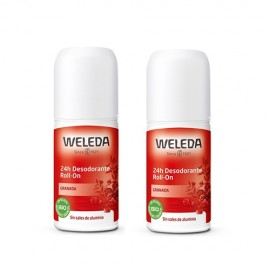 Weleda Duplo Desodorante roll-on 24h de granada 2x50ml